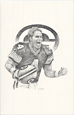 Bret Favre by William Abell
