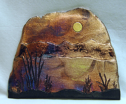Bronze Sunrise - Raku by Robert Small