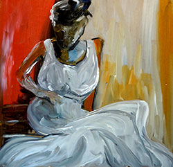 Woman in Dress by Therese Rene Zuver