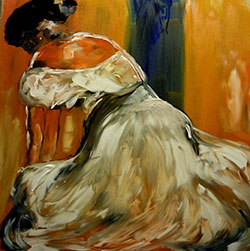 Woman in Dress Study by Therese Rene Zuver